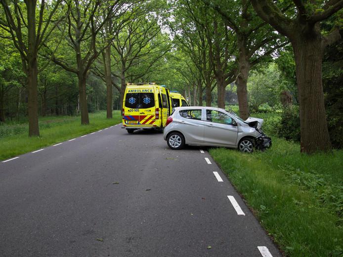 Aan de Huijbergseweg in Bergen op Zoom vond een eenzijdig ongeval plaats