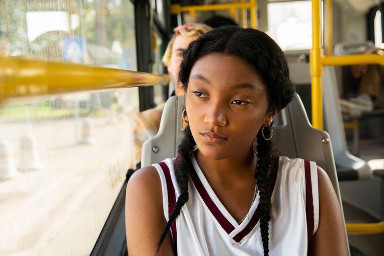 Het nieuwe acteeertalent Jordan Kristine Seamón als Caitlin. Beeld
