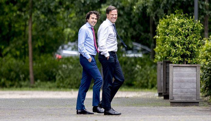 In 2017 onderhandelden Jesse Klaver (GroenLinks) en Mark Rutte (VVD) over een coalitie. Die besprekingen liepen stuk.