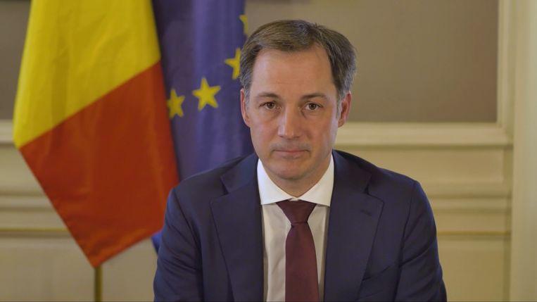 Premier Alexander De Croo. Beeld rv