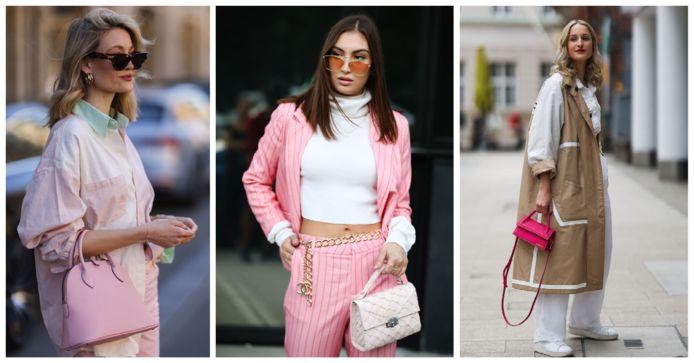 Deze roze handtassen geven een boost aan je outfit