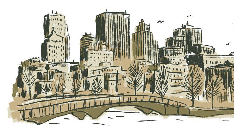 Skyline Montreal. Beeld Luis Mendo