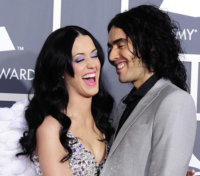 Katy Perry en Russell Brand tijdens hun korte huwelijk.
