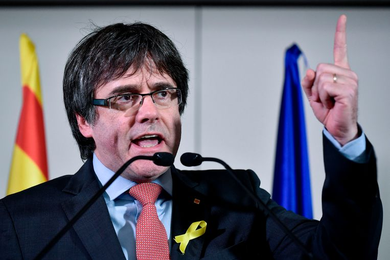 Voormalig Catalaans president Carles Puigdemont. Beeld AFP