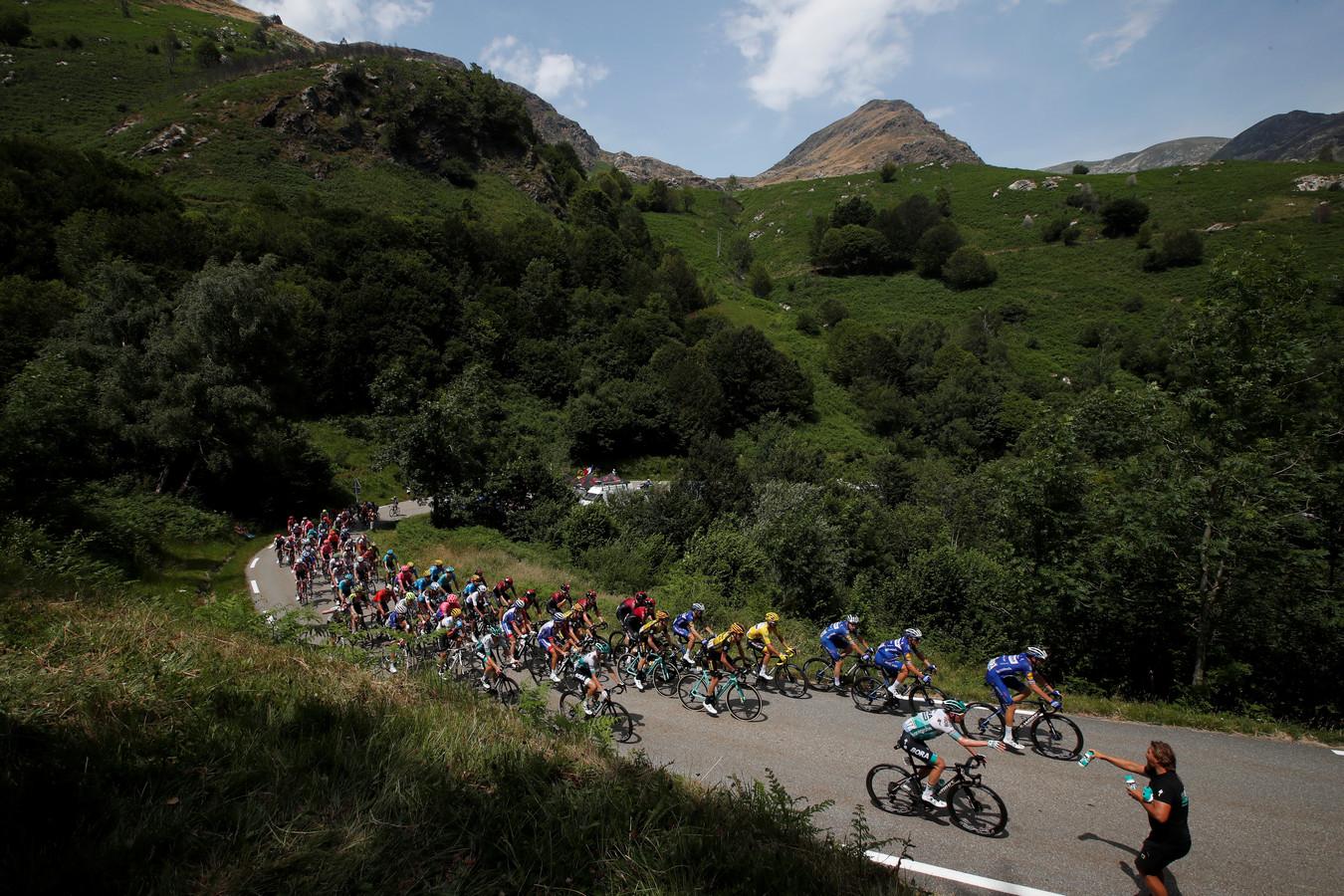Het Tourpeloton heeft er een zware vierdaagse in de Pyreneeën opzitten.