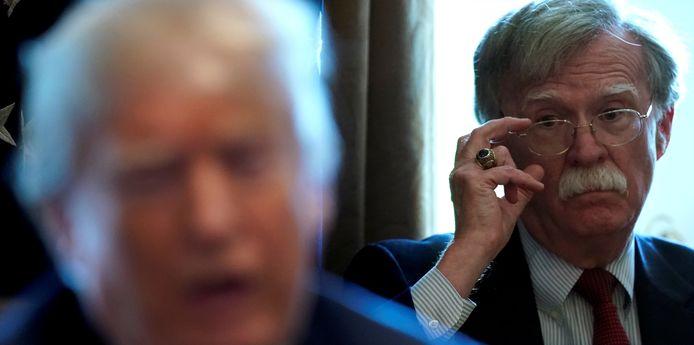 John Bolton in 2018 als toenmalig Nationaal Veiligheidsadviseur van Donald Trump.