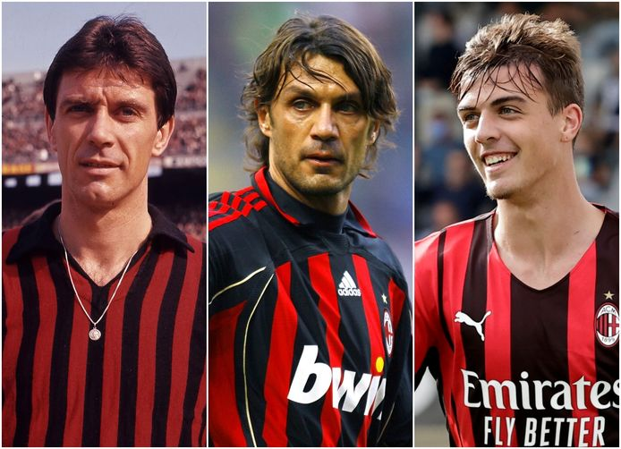 Cesare, Paolo en Daniel Maldini (vlnr).