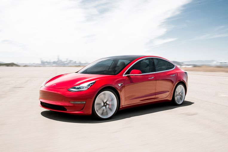 Een Tesla Model 3. Beeld AP