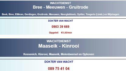 1,5 euro per minuut voor telefoontje naar dokter van wacht (maar beterschap op komst)