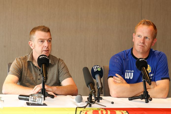 Wouter Vrancken en Dieter Penninckx, een jaar geleden zij aan zij.