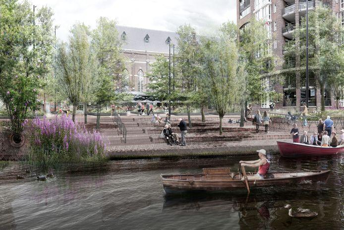 Het Franciscanessenplein in Breda, zoals dat er in de toekomst gaat uitzien.