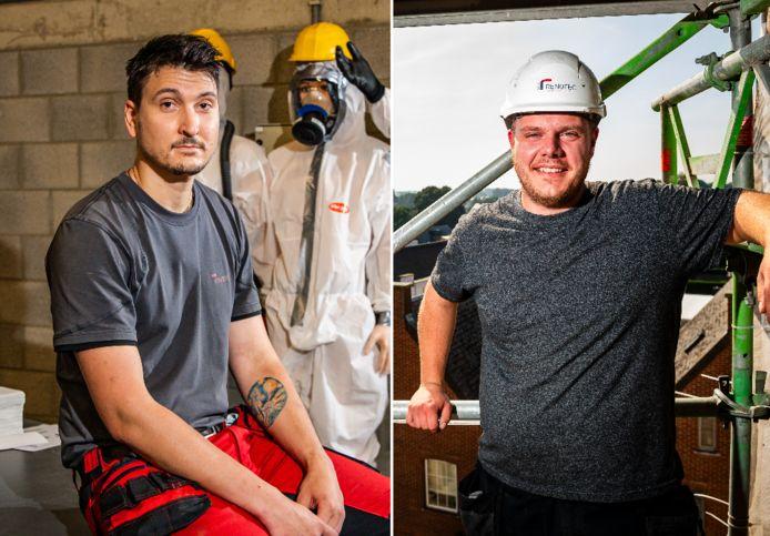 Dylan Masset (bakker van opleiding) en Arne Cannaerts (slager van opleiding) gooiden hun loopbaan over een gans andere boeg.