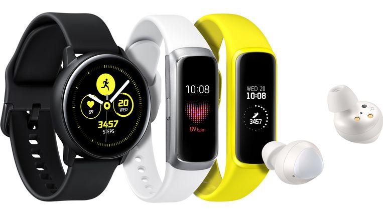 De Galaxy Watch Active, de Galaxy Fit en de Galaxy Buds.