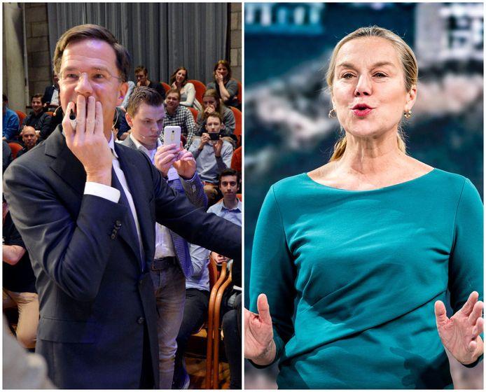 Mark Rutte (links) en Sigrid Kaag (rechts) zullen allebei op deze woensdag in gesprek gaan met Twente.