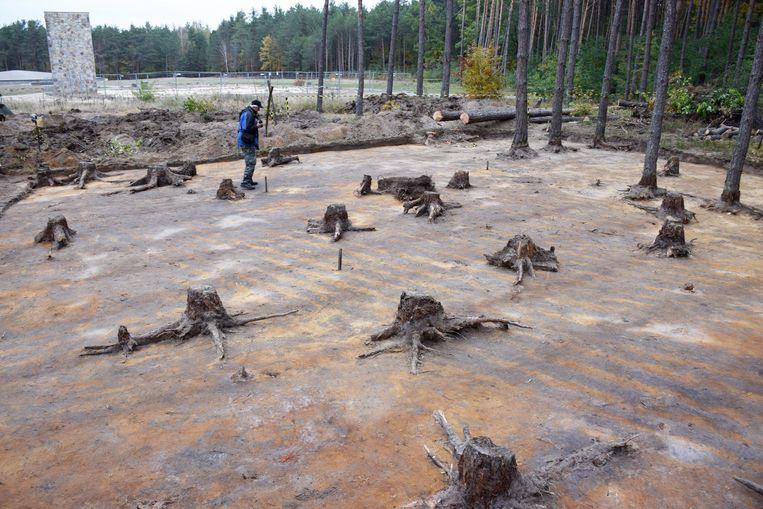 Opgravingen in het kamp van Sobibor.