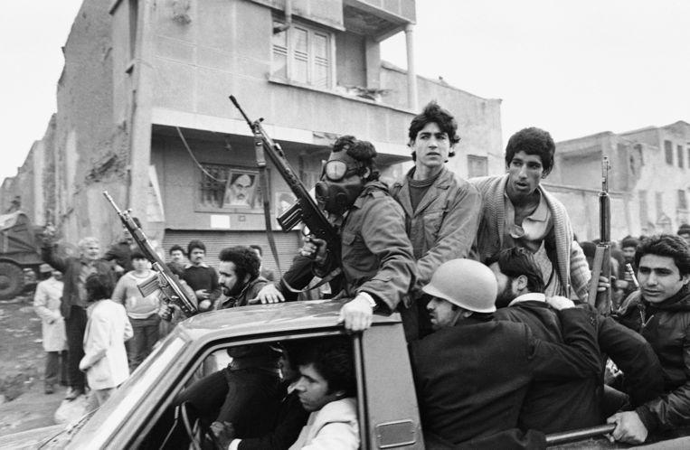 De Iraanse revolutie in 1979 in Teheran. Beeld AP