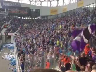 Verenigd tegen de grote vijand: fans van Gent en Anderlecht nemen samen Club Brugge op de korrel