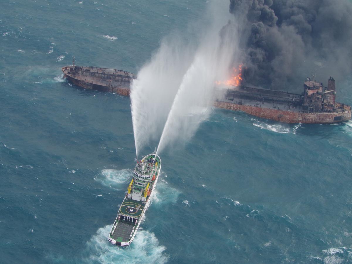 Bluswerkzaamheden bij olietanker Sanchi