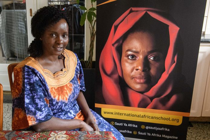 Odilia Anyachi Okonga is oprichter van de Afrikaanse school die in Nederland vooral volwassenen meer leert over Afrika.