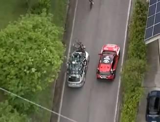 Ongelofelijk: Pieter Serry wordt van sokken gereden door volgwagen, chauffeur uit koers gezet