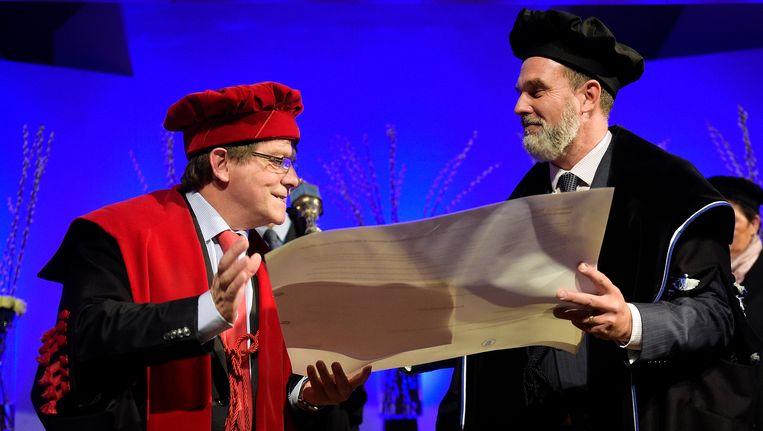 Rik Torfs en Peter Bouckaert. Beeld BELGA
