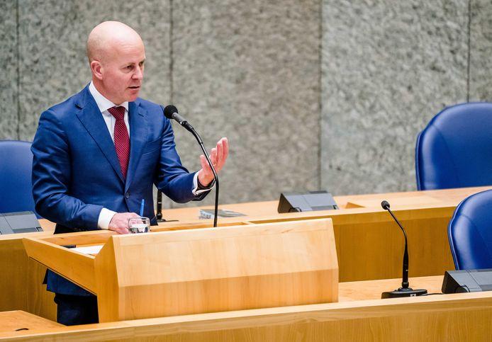Demissionair staatssecretaris Raymond Knops van Binnenlandse Zaken en Koninkrijksrelaties.