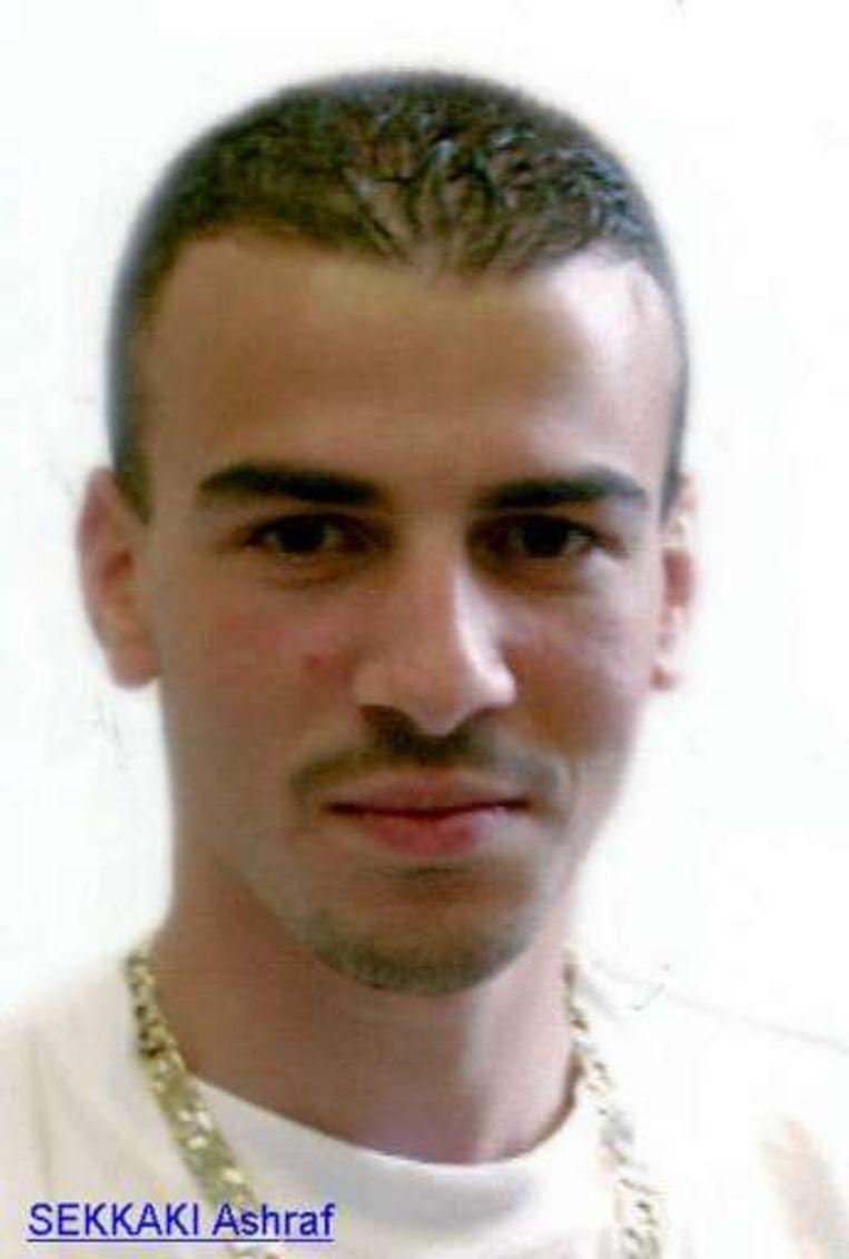 Ashraf Sekkaki op een foto uit 2003, toen hij 20 was. Beeld UNKNOWN