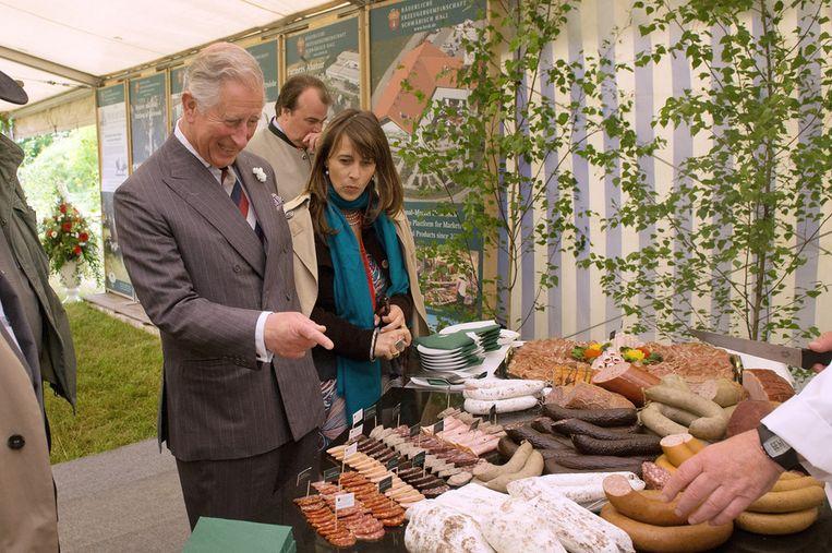 Prins Charles bezocht in het Duitse Langenburg een beurs van streekproducten.