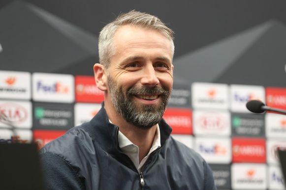 Ook Salzburg-trainer Marco Rose zal vanavond kledij van 'FC Salzburg' dragen.