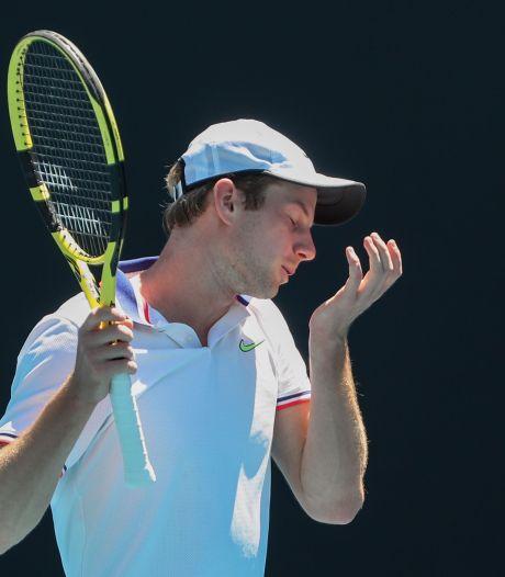 Debutant Van de Zandschulp te veel last van spanningen op Australian Open: 'Heel frustrerend'
