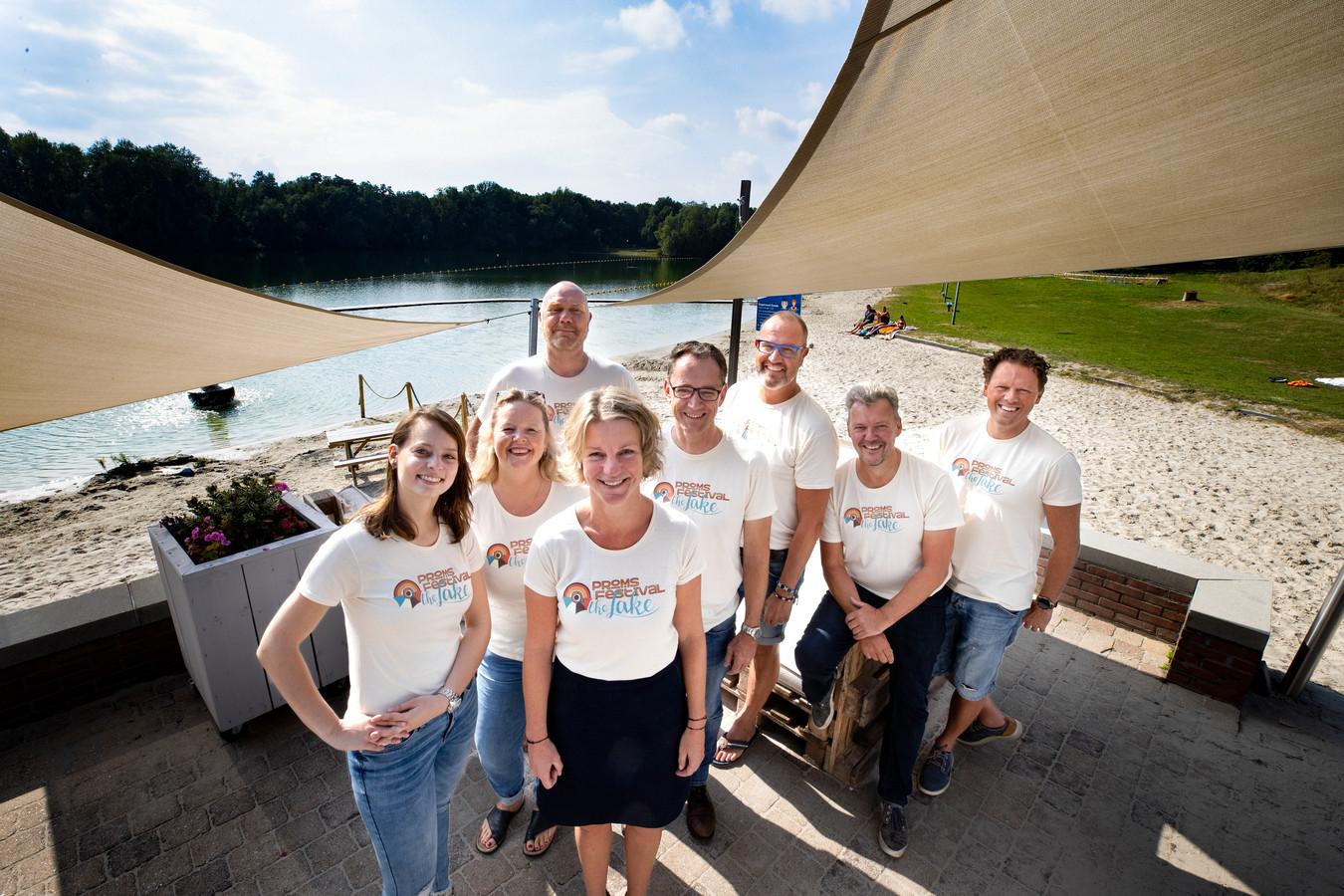 Bij de Enodeplas vindt over een jaar een nieuwe versie van de Nuenen Proms plaats. Afgelopen weekend verzamelden ontwerpers muzikanten en organisatie zich op deze plek.