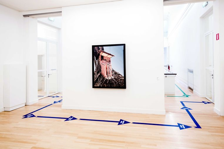 Museum De Fundatie in Zwolle heeft van de bezoekersroute een kunstwerk gemaakt. Beeld EPA