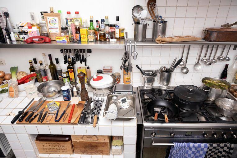 De keuken van René Ameling.  Beeld Els Zweerink