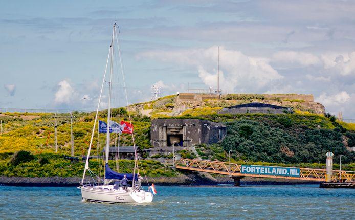 In de Tweede Wereldoorlog namen de Duitsers het Forteiland in.