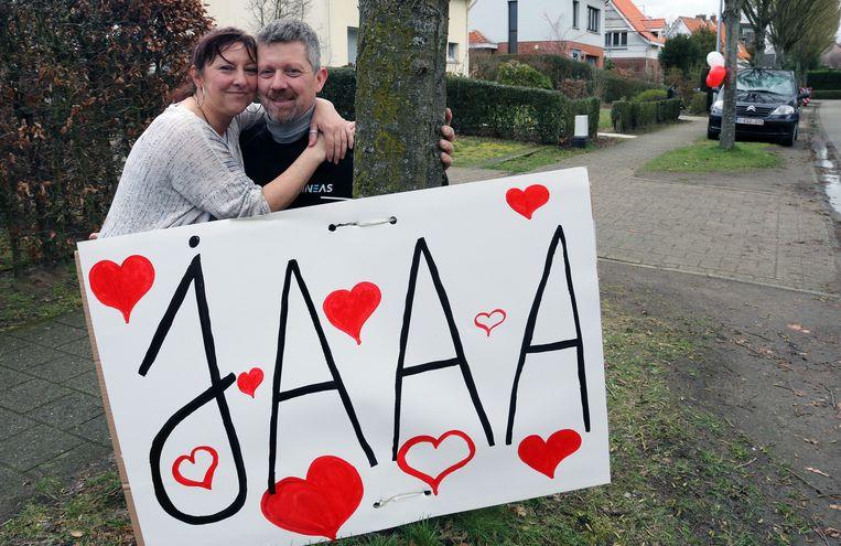 Daniel Pauwels zei ja op het huwelijksaanzoek van zijn vriendin Suzy Wuyts.
