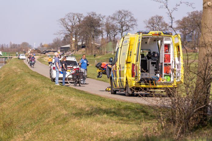 Man gewond bij ongeval met scootmobiel. Foto: AS Media.