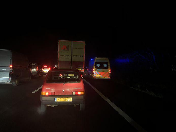 Op de A30 bij Lunteren heeft donderdagochtend een flink ongeval plaats gevonden.