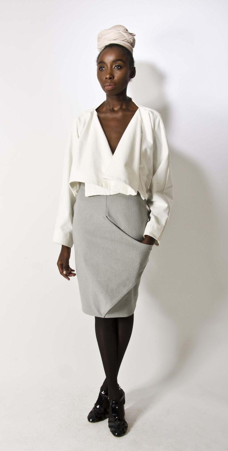 Afrikaanse mode is meer dan kleuren en drukke prints, dat bewijst ontwerper Katungulu Mwendwa. Beeld © RV