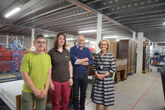 Gedeputeerde Ann Schevenels met Lieven Van der Stock, directeur ViTes.