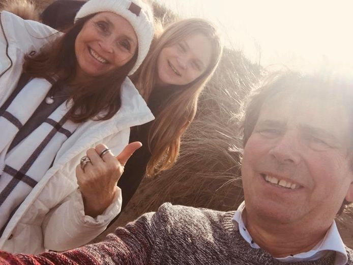 Wendy Van Wanten, Frans en Estelle genieten van hun uitstap.