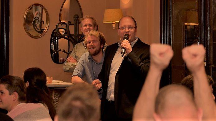 Willem, Jeroen en Robin Brouwer (vlnr).