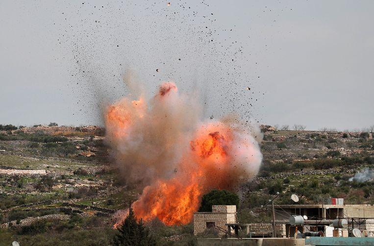 Gisteren nog voerde Rusland luchtaanvallen uit in de regio. Beeld AFP