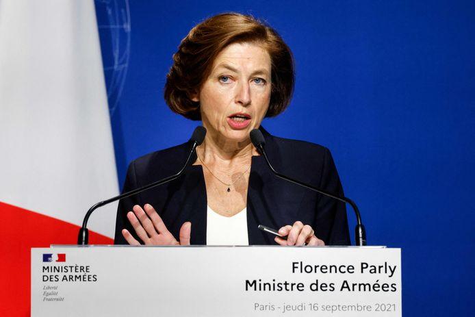 De Franse minister van Defensie Florence Parly.