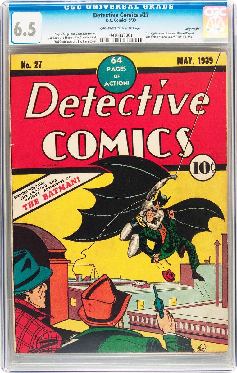 Detective Comics nr. 27 uit 1939, met het debuut van 'The Batman'. Beeld ap
