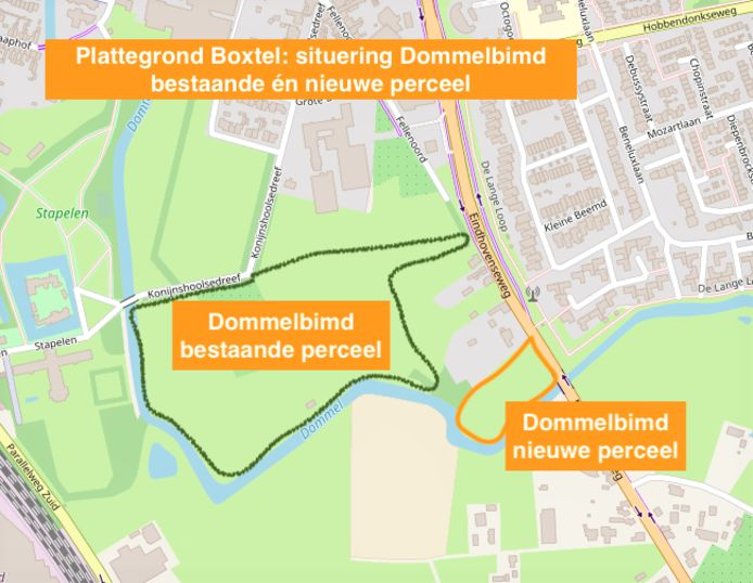 De uitbreiding van het natuurgebied van Dommelbimd.