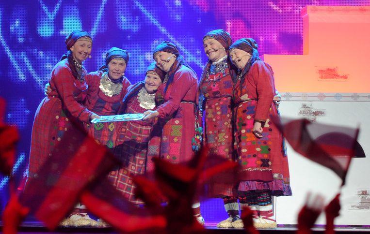 De Russische oma's gingen aan de haal met de tweede plaats.