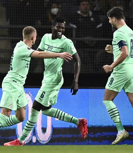 PSV speelt chagrijn van zich af met royale Europa League-zege in Graz