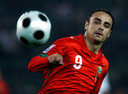 FILE PHOTO: Bulgaria's Dimitar Berbatov during their 2010 World Cup qualifying soccer match against Georgia in Tbilisi, October 15, 2008. REUTERS/David Mdzinarishvili/File Photo