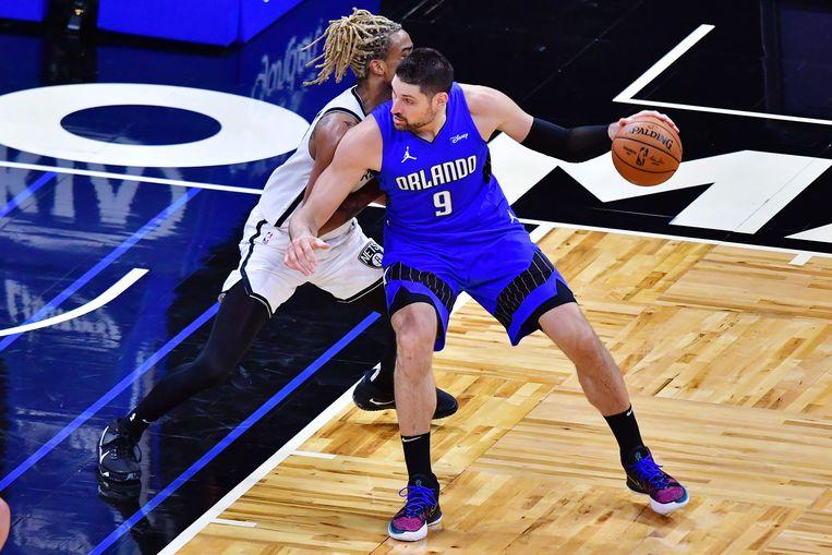 Nikola Vucevic, een Montenegrijn met Belgische roots, was een van de belangrijkste spelers die op NBA Deadline Day van club veranderde. De ster van Orlando Magic belandde via een ruildeal bij Chicago Bulls. Beeld AFP