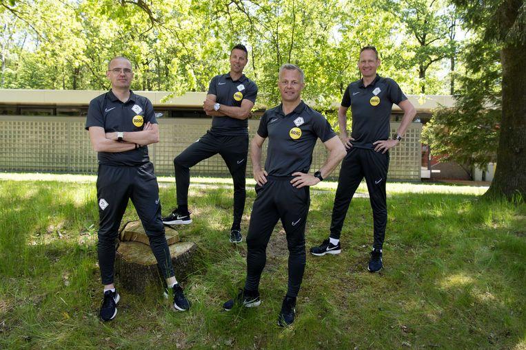 Team Kuipers, met (vlnr) Hessel Steegstra, Sander van Roekel, Björn Kuipers en Erwin Zeinstra.  Beeld ANP